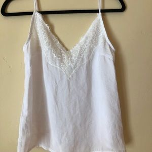 White and lace tank top